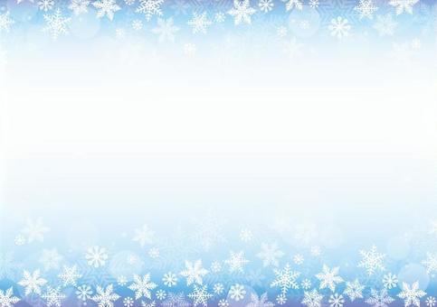 Snow decorative frame
