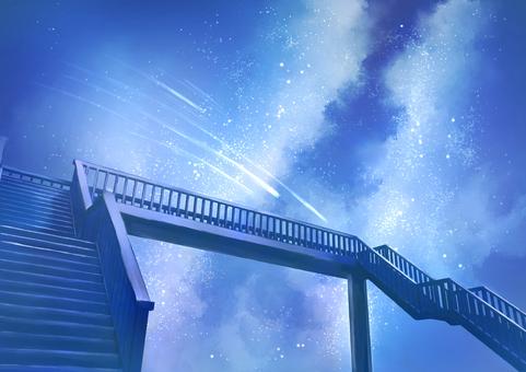 人行天橋背景圖星空