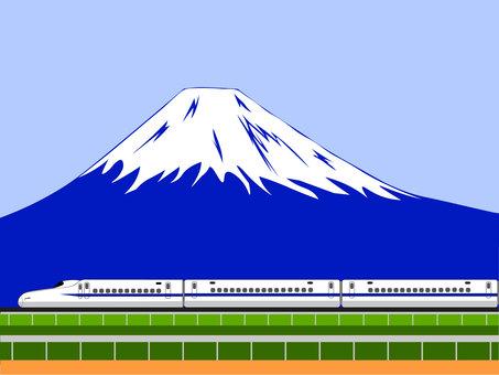 富士山和新幹線的插圖 1