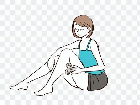 一個女人玩滾子