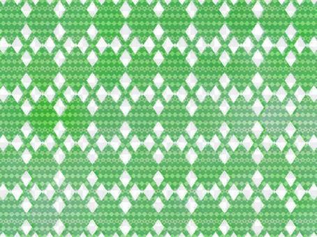 象針刺的Argyle樣式背景綠色