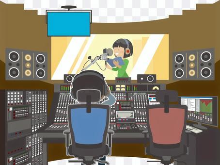 錄音室錄製風景
