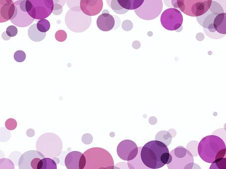"""泡泡框架""""紫"""""""