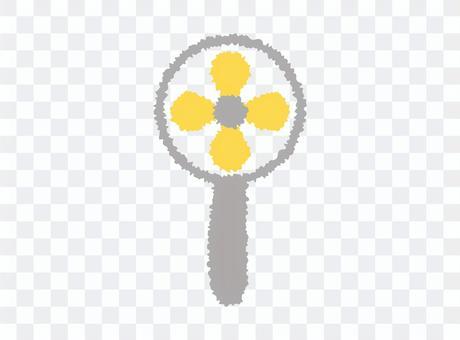 簡單的便攜式風扇圖標