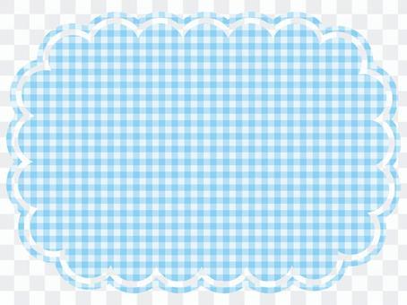 淺藍色格紋雲架