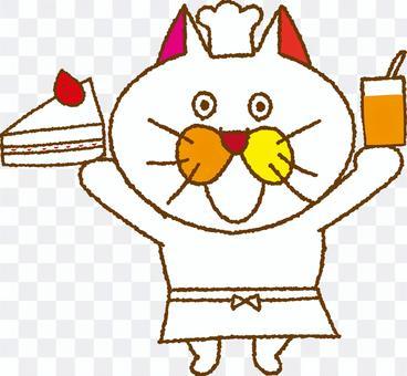 Homemade cake of cat tamako