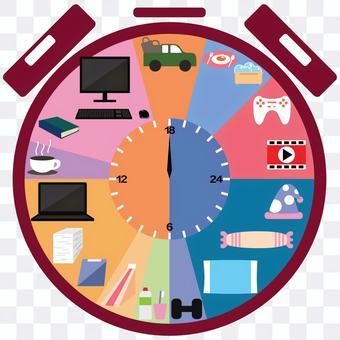 帶時間表的時鐘