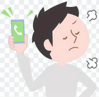 Man ignoring the phone