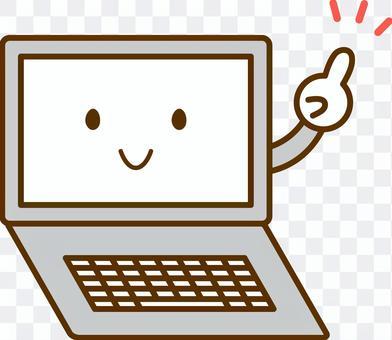 個人電腦與指向的姿勢
