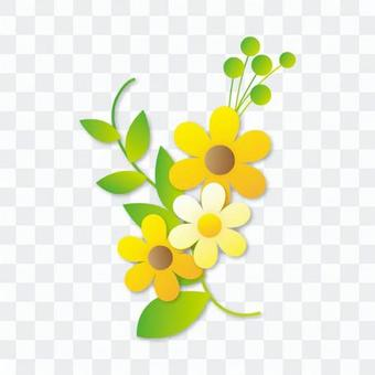 꽃과 초록의 모티브