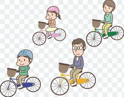 與家人自行車