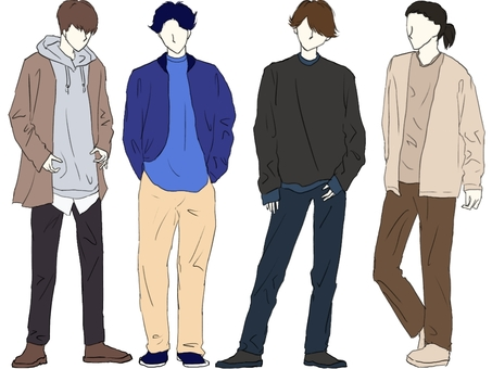 Handsome autumn / winter fashion sense boys