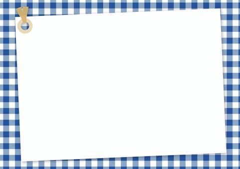 備註標籤<藍色x白色方格布式>