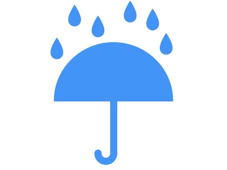 雨和傘圖標 A:藍色