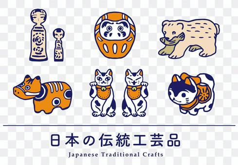 Japanese traditional crafts Hand-painted folk crafts Souvenirs