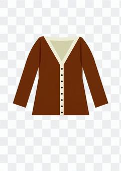 開襟衫(棕色)