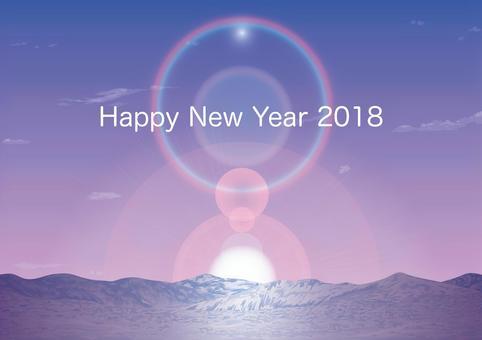 2018年納迦野原的新年日出