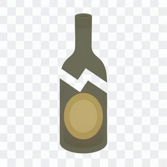 破瓶,棕色