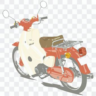 Moped motorcycle red