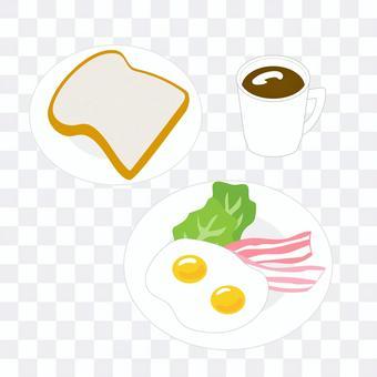 培根雞蛋早餐