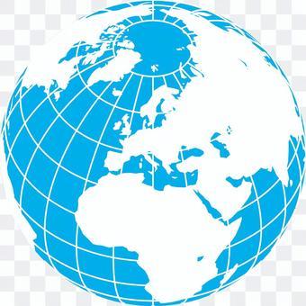 世界地図-ヨーロッパ中心-緯度経度