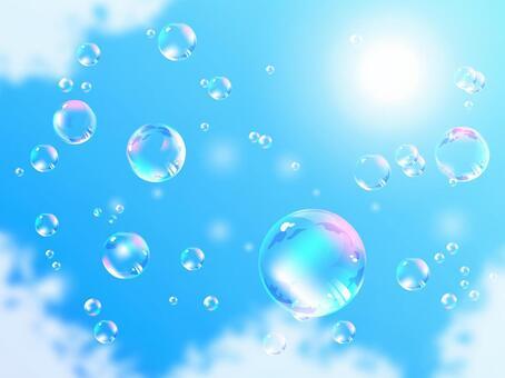 漂浮在藍天04的泡沫