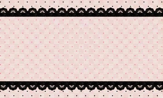 Business card pink dot pattern tulle frame