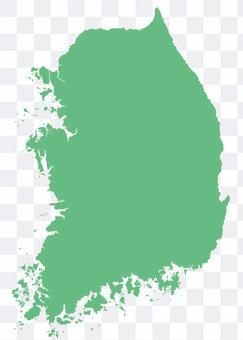 韓國地圖綠色