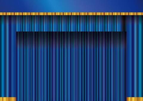 背景框架框架窗簾帷幕天鵝絨藍色