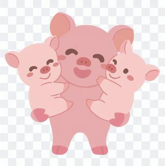 Pig parent and child