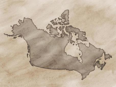 加拿大地圖舊地圖樣式