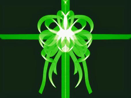 飾りリボン 緑