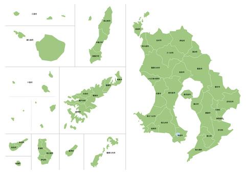 鹿兒島縣地圖 輸入市町村名