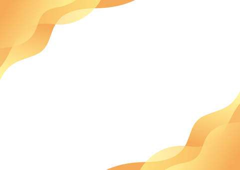 Curved autumn orange frame background