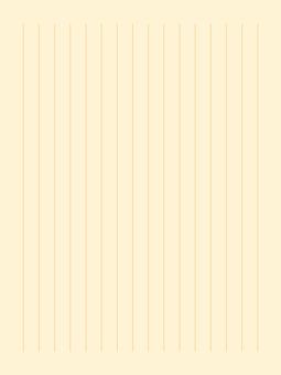 素色文具15行(豎)|黃色