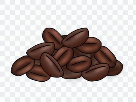 堆積的咖啡豆