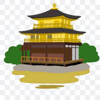 金閣寺的插圖