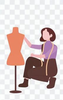 女人測量尺寸