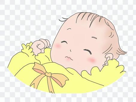 嬰兒睡覺的臉