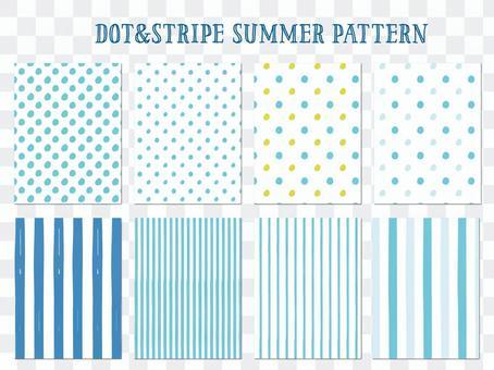 點和條紋夏天圖案