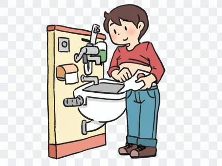 オストメイト対応トイレを使う人