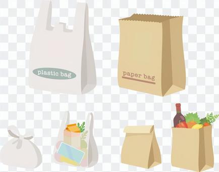 塑料袋和紙袋