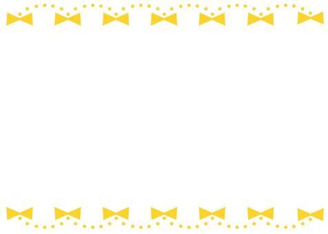 絲帶框架黃色