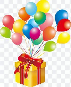 禮物箱禮物氣球氣球箱子圖片