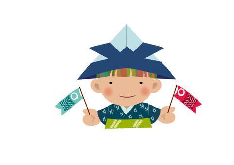 摺紙頭盔和鯉魚旗