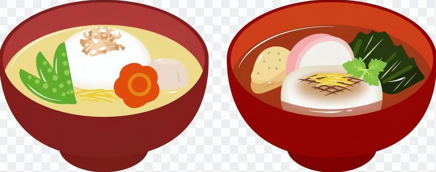 關西式和關東式湯