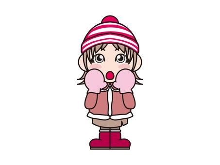*年終冬季女孩