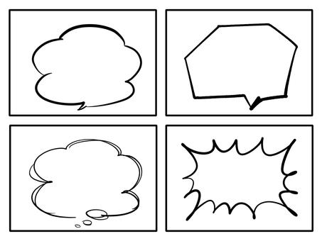 演講氣球漫畫風格