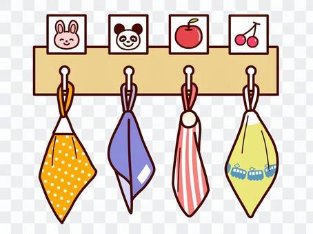 毛巾架的視覺輔助