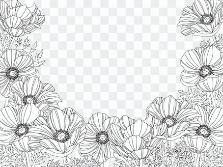精美繪畫風格海葵相框